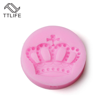 TTLIFE Crown Shape Cake Silicone Moulds Fondant Cupcake DecoratingTools Chocolate Gumpaste Mold Candy Resin Clay Crafts Molds