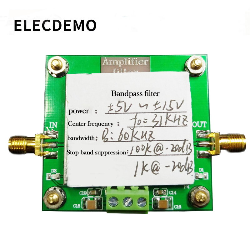 Bandpass Filter Module 8th Order Filter Center Frequency 31KHz Bandwidth 60KHz Stopband Suppression-in Demo Board Accessories from Computer & Office