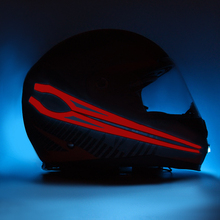 ROAOPP Motorcycle Night Riding Helmet Signal Waterproof Durable Flashing Stripe Cold LED Light Sticker Luminous Modified Strip