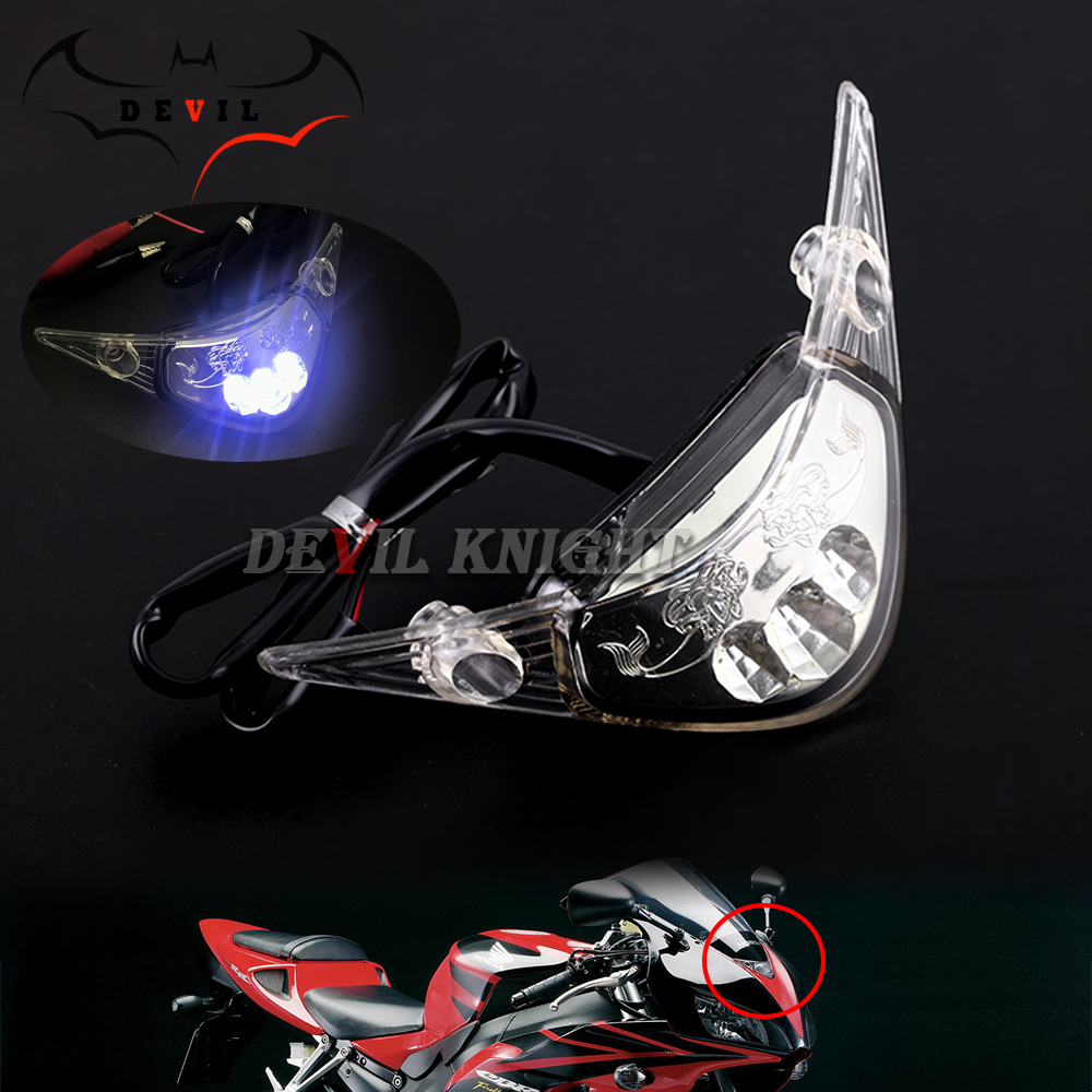 For HONDA F5 CBR 1000 RR CBR1000RR 2004 2005 2006 2007 Headlight Headlamp Fog Lamp Front Head Light LEDFront Center Light