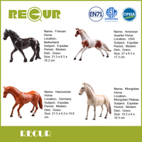 4 Pcs Set Recur Toys Hot Sale High Quality Horse Series Simulated Hand Painted Soft PVC
