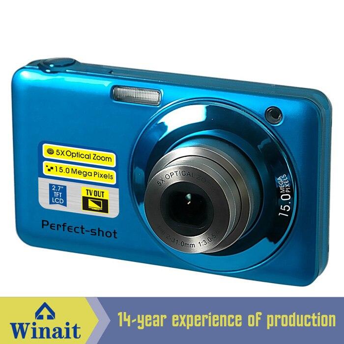 ФОТО Free Ship V600 15Mp Max 5X Optical Zoom 4X Digital Zoom Digital Camera 2.7
