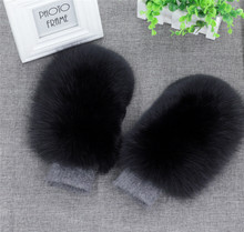 Women Fashion Brand New Genuine Woollen Fox Fur Covered Winter Gloves Mittens 2018 new autumn and winter popular fashion wing tote genuine leather trapeze women handbags casual big volume shopping bag