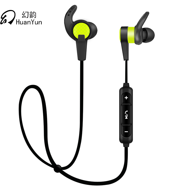 Huan Yun Headset earphones wireless bluetooth  Stereo Headphones ear hook with Mic waterproof Sport Running For Phone For Xiaomi universal led sport bluetooth wireless headset stereo earphone ear hook headset for mobile phone with charger cable