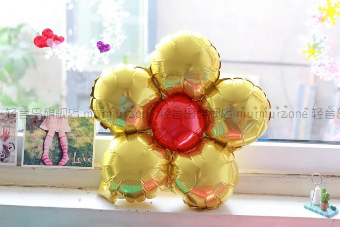 5st / lot 35cm Flerfärg blomma ballonger Flerfärg Ballonger Party - Semester och fester - Foto 6