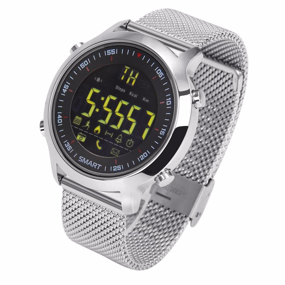 <font><b>EX18</b></font> Digital sports <font><b>smart</b></font> <font><b>watch</b></font> with metal strap image
