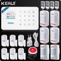 2017 Kerui W18 Wireless Wifi GSM IOS Android APP Control LCD GSM SMS Home Burglar Alarm
