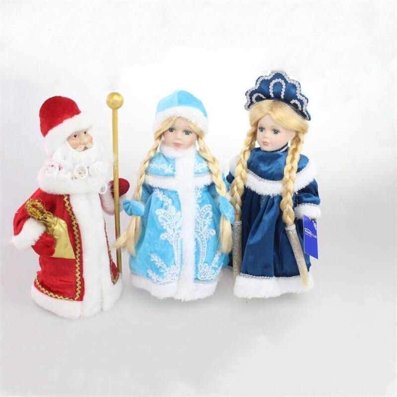 30cm bonito rússia inverno vovô adorável realista playmate bonecas fingir jogar brinquedos criativo presente de natal aniversário para crianças