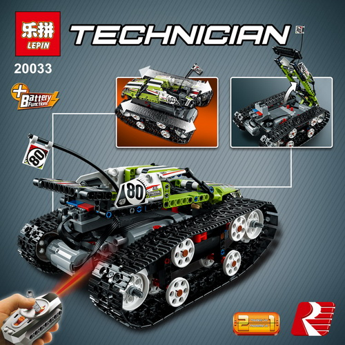 New Lepin 20033 Technic Series legoinglys The RC Track Remote-control Race Car Set Building Blocks Bricks Educational Toys 42065