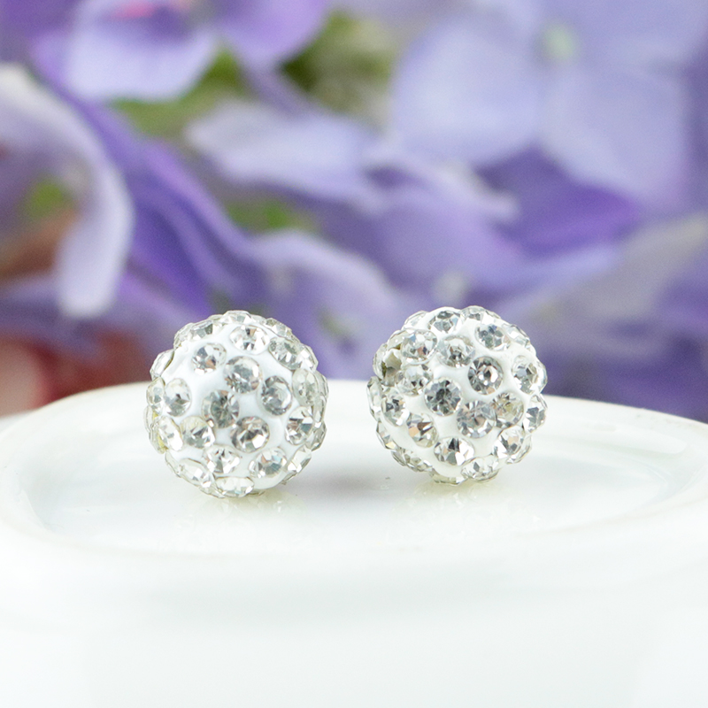 2019 Latest Design 50pcs 10mm White Clay Shamballa Beads Disco Pave Crystal Ball Beads For Jewelry Making Earrings Bracelet Diy Beads Beads