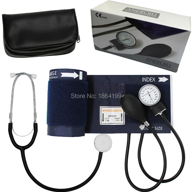 Factory outlet! Aneroid Sphygmomanometer Cuff Blood Pressure Montior with Stethoscope Nylon Cuff Dial-in Blood Pressure from Beauty & Health