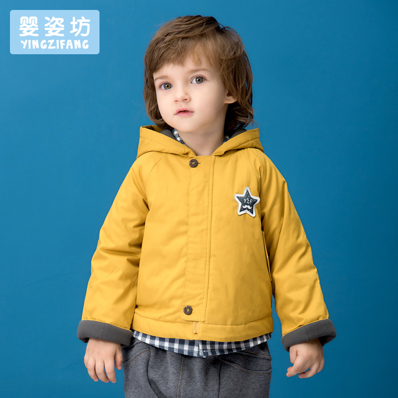 Winter Boys Coat Jacket Yingzifang Unisex Casual Sleeves Cotton Outerwear Embroidered Star Kids Jacket Outwear autumn new Coat цена 2017