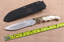 Nwe 5Cr15Mov Blade Copper Handle Fox Knives Outdoor Hunting Knife Utility Tactical Knives Camp Survival Tools EDC Tool