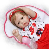 NPKCOLLECTION 56 см корнями hiar Reborn Силиконовые Реалистичные мягкой тканью тело девушки детские куклы с одеяло Игрушка аксессуары