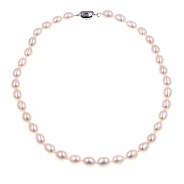 Fine Jewelry Womens White Pearl Strand Necklace