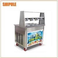 Preço de atacado dupla plana pan frito máquina de sorvete  máquina de gelo fritar pan|Sorveteira| |  -