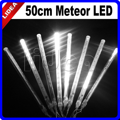 50CM Meteor Rain Shower Festival New Year Xmas Navidad Cord Fairy LED Garland Christmas Outdoor Garden Decoration Light EMS C-28