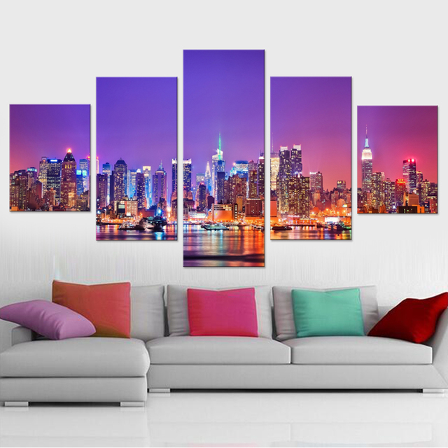 Aliexpress.com : Buy Beautiful City Canvas Set Paintings for Living ...