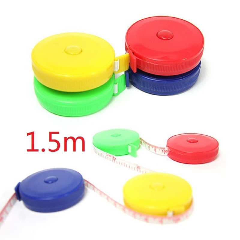 150CM Mini Measuring Tape Measure Retractable Metric Belt Colorful Portable Ruler Centimeter Inch Children Height Ruler hot sale adjustable ruler measure rc car height