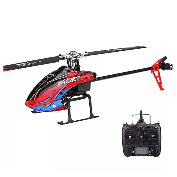 XK K130 RC hélicoptères 2.4G 6CH système sans balai 3D6G hélicoptère RC sans mouche RTF Compatible protocole d'autobus RC hélicoptères cadeaux