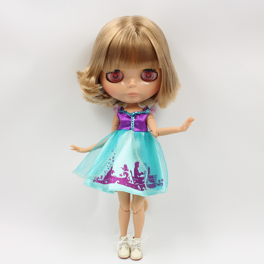 ICY Nude Factory Blyth doll No 130BL3504 Brown hair JOINT body Burning skin Neo BJD