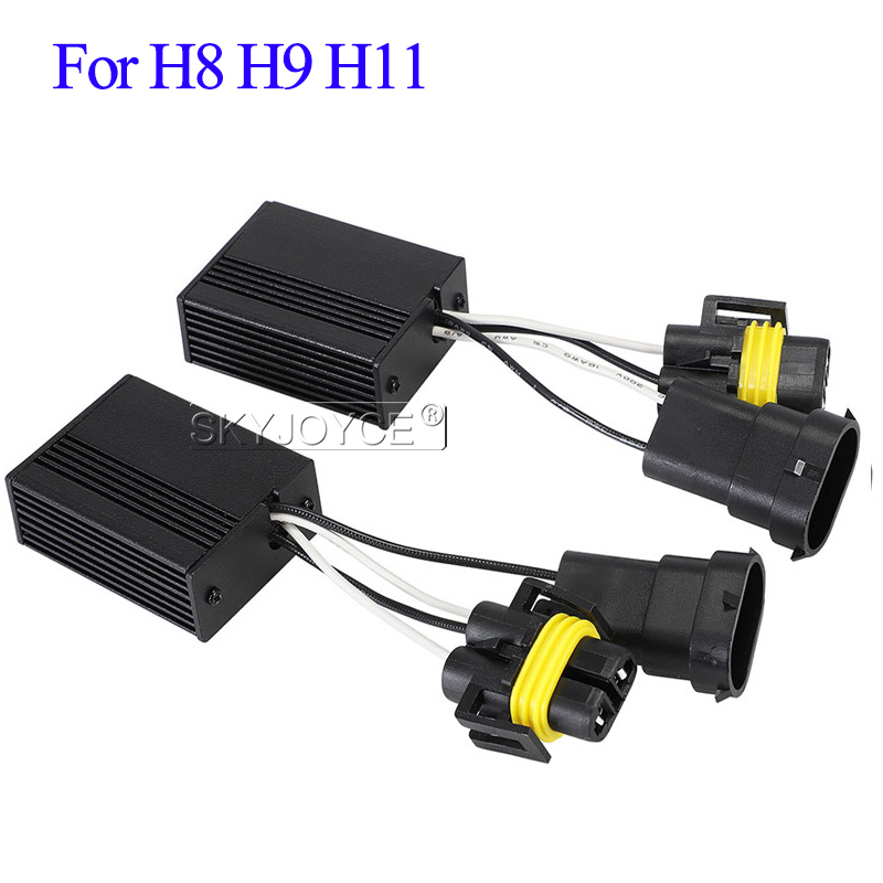 SKYJOYCE LED H1 H3 H7 Canbus Decoder H11 HB3 HB4 Warning Canceller Capacitor And Resistor Canbus For Car Headlight LED Fog Light (3)