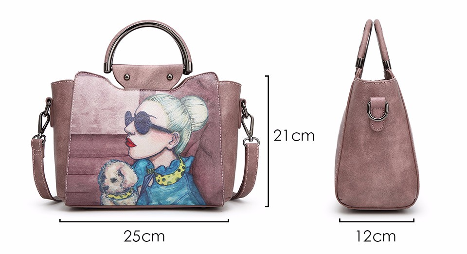 18 Famous Designer Brand Tote Bags Women High Quality Leather Handbags Shoulder Bag For Ladies Vintage Print Handbag Blue Pink 3