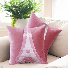 ФОТО mermaid decorative cushion cover pillow cover sequin colorful square color knitted pillow home car sofa pillowcase 40*40 cm