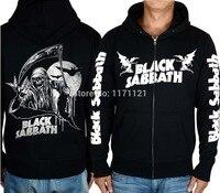 BLACK SABBATH LINE UP MUSIC HOODIE Band World Tour Heavy Metal CLASSIC METAL Black 100 Cotton