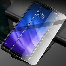 Keajor Tempered Glass For Xiaomi mi 8 lite Flim 9H 5D Anti-Scratch Fully Cover Screen Protector Film