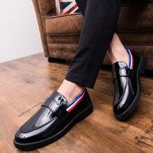 5cae030277 Thestron Patente Sapatos De Couro Homens Moda Hot Sale Preto Homem  Mocassins Sapatos Mocassins de Couro de Luxo 2018 Azul Branco.