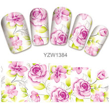 2018 New Models, Watermark Stickers, Chrysanthemums, Small Fresh Nail Applique, Stickers.YZW1383