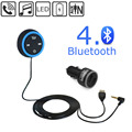 Bluetooth Hands Free Car Kit with 3.5mm Aux Jack for Car Audio Stereo System - Answer Calls, Control Music