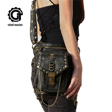 где купить Steel Master Steampunk Waist Bags Women's Casual Leg Bag Vintage Rivet Gothic Retro Rock Messenger Shoulder Bag Unisex  по лучшей цене