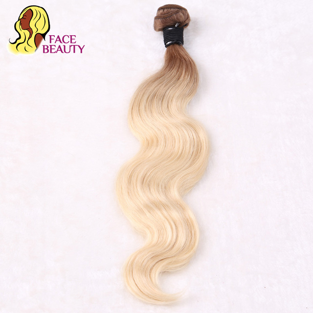Facebeauty 8 30 Inch T8 613 Ombre Color 2 Tone Blonde Human Hair