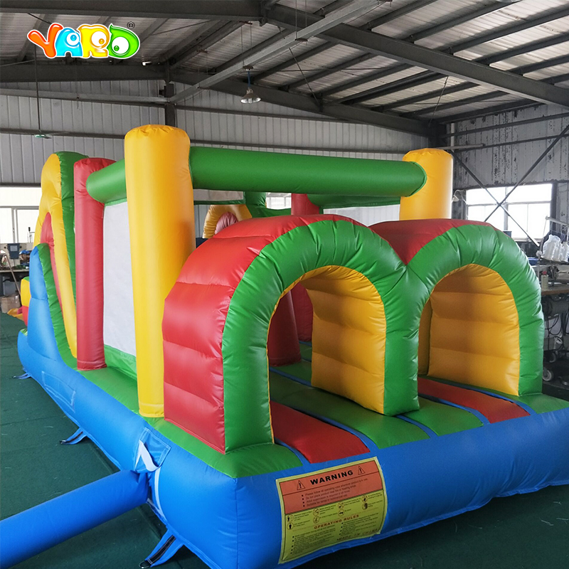 PVC Commercial Grade Inflatable Slide Inflatable Bounce House Inflatable Obstacle Course With Blowers