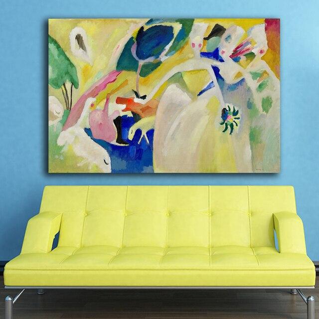 Large size Pastoral Wassily Kandinsky Decoration Paints Home Decor ...