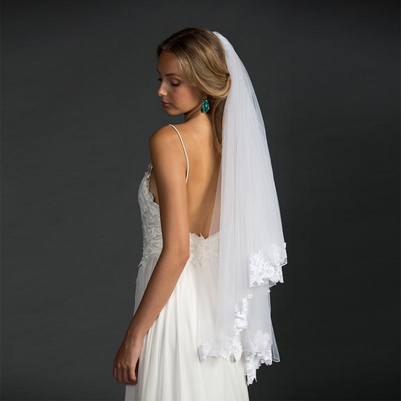 Styles Of Wedding Veils: European American Style White/Ivory Bridal Veil