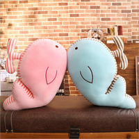 Lovely Small Whale Plush Toy Eiderdown Cotton Stuffed Doll Plush Pillow Creative Gift for Children & Friend