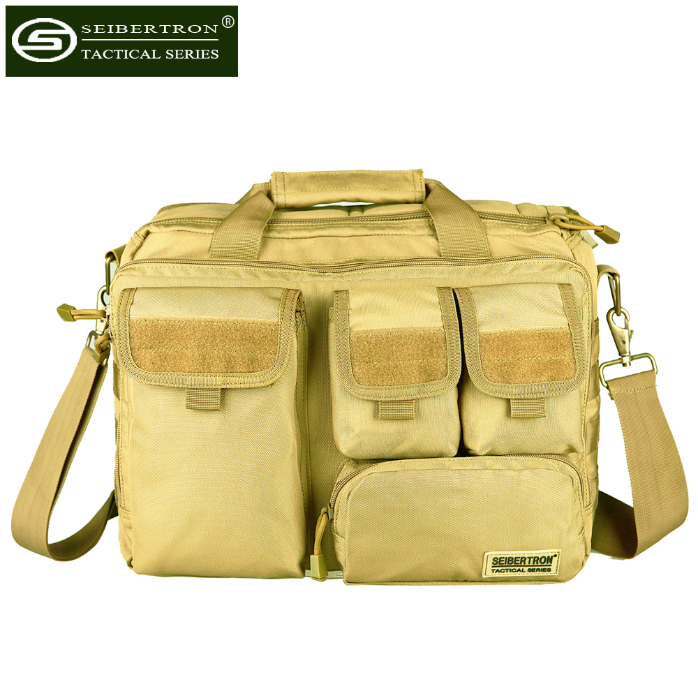 "Seibertron Mens Military Tactical Outdoor Shoulder Messenger Bag 17,3 '' Handväskor Portfölj Stor nog för 15,6 ""Laptop väska"