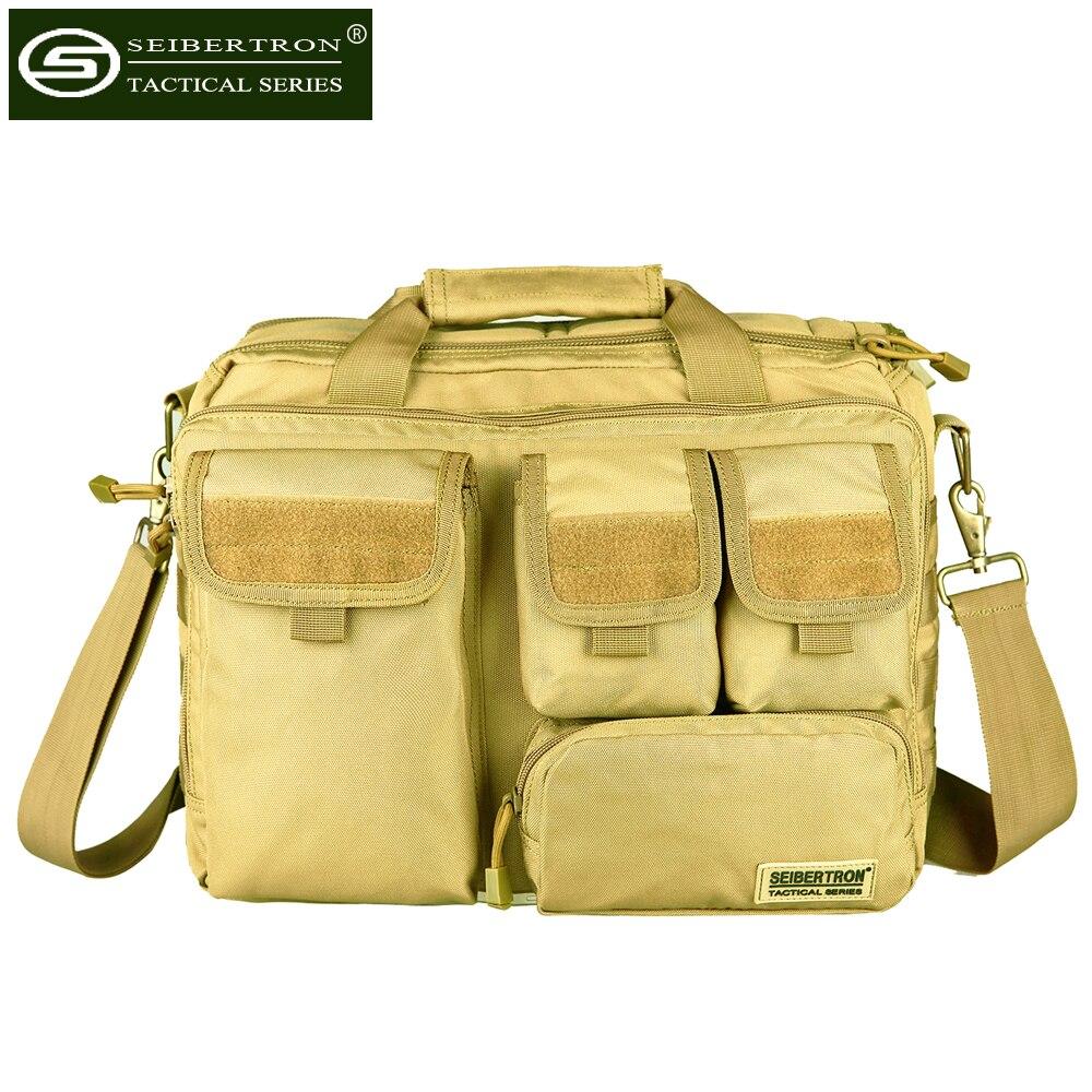 Seibertron hombre Militar táctico al aire libre hombro Messenger Bag 17.3 ''bolsos maletín lo suficientemente grande para 15.6 bolso del ordenador portátil