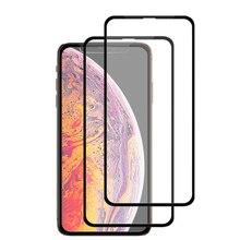 2 pièces pour iPhone XR Film de verre pour iPhone 7 6 6s 8 Plus protecteur décran pour X XS MAX étui pour iPhone 11 Pro MAX Glass