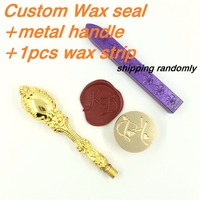 Customize Wax Stamp With Your Logo With Metal Handle 1wax DIY Ancient Seal Retro Stamp Personalized