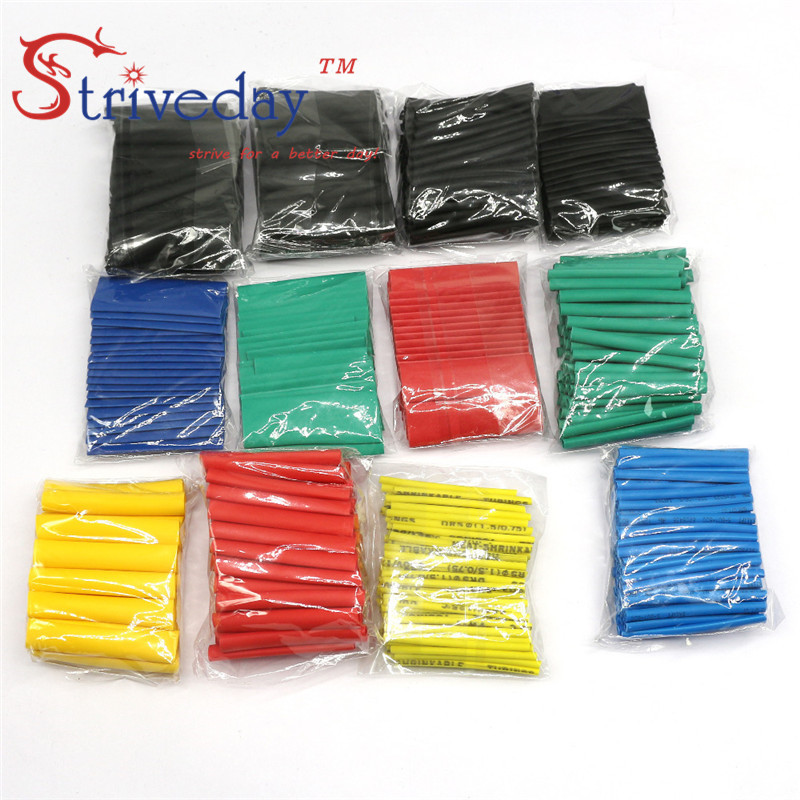 127 328 530pcs lot environmentally friendly flame retardant heat shrinkable tube DIY household electrical wire hose kit in Cable Sleeves from Home Improvement
