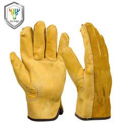 OZERO мужские рабочие перчатки из воловьей кожи защита водителя Защита Одежда безопасность рабочие сварочные мото охотничьи походные