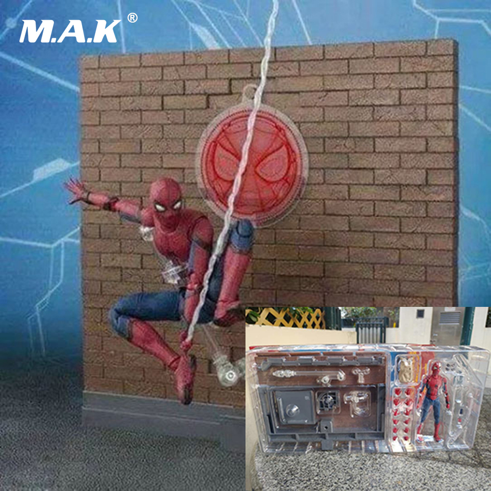 Kid Toys 15cm PVC Spiderman Homecoming Anime Action Figures Deluxe Edition with Box Toys Gifts for Collections