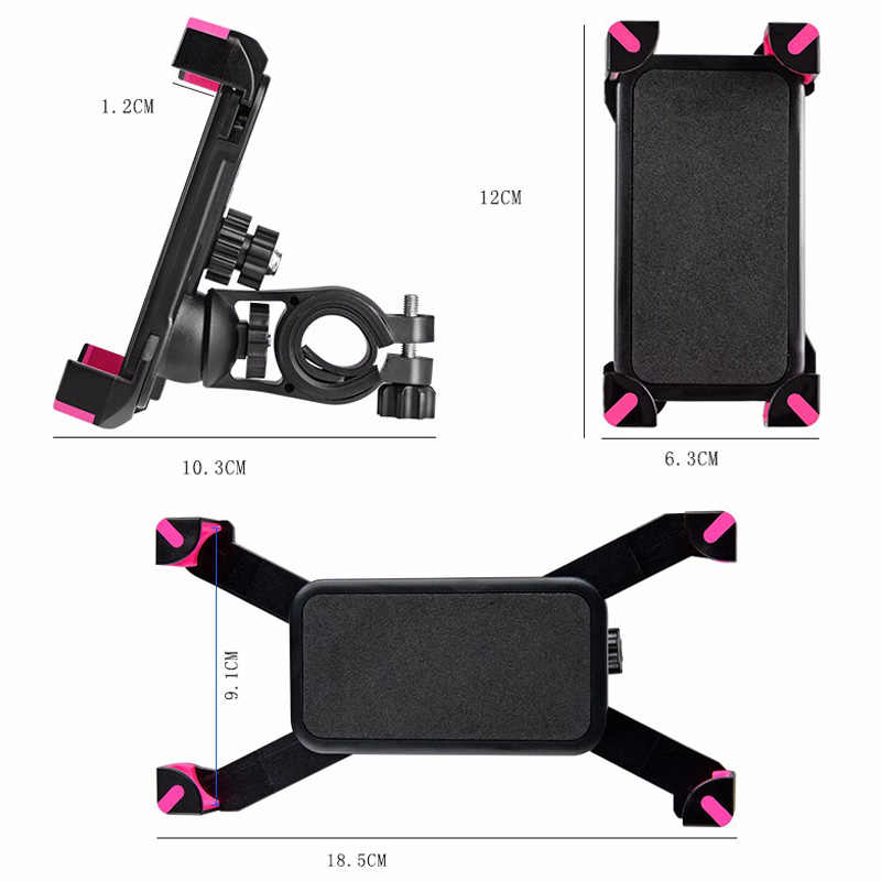 ROCKBROS Bicycle Phone Holder Adjustable Universal High Quality Ultralight Bracket mtb Bike Bicycle 3.5-7inch PVC Phone Holder