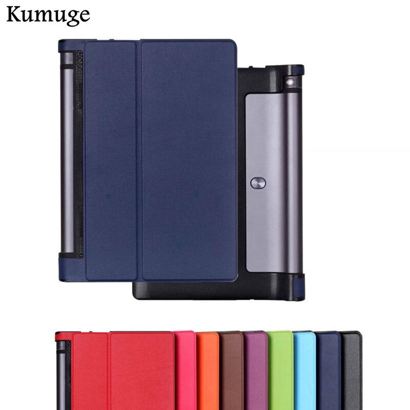 Cover for Lenovo Yoga Tab 3 YT3-X50F YT3-X50L 10.1 inch PU Leather Tablet Cover Case for Lenovo Yoga Tab 3 YT3-X50F X50L X50M fonksiyonlu rende