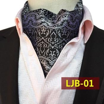 цена Luxury Men Classic Paisley Flower Long  Cravat Ascot Ties Silk Cravat Ties Woven Ascot онлайн в 2017 году