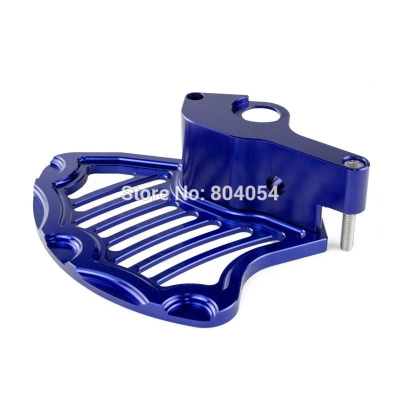 Blue Front Brake Disc Guard For KTM 125-530 2004-2014, Husaberg 2009-2014, Husqvarna 2014-2015 motorcycle front rider seat leather cover for ktm 125 200 390 duke